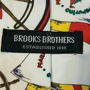 Brooks Brothers Accessories - Brooks brothers men cotton Marine tie made in USA